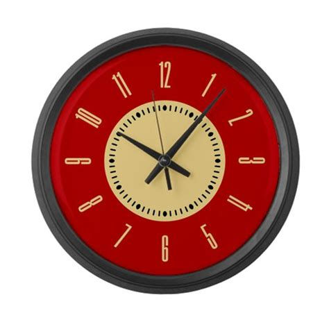 best large wall clocks customer best choice retro red large wall clock by