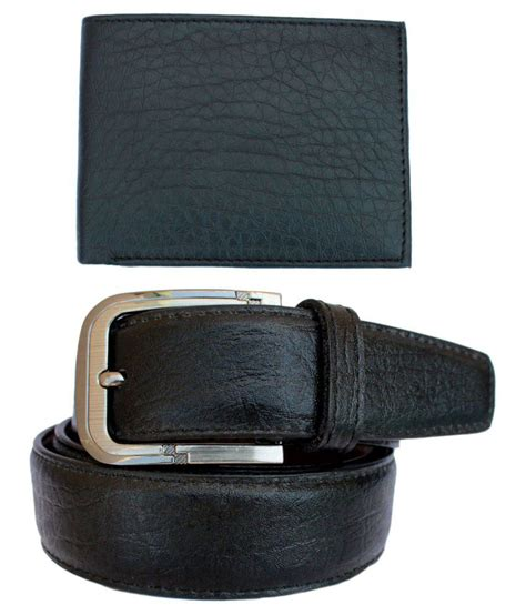 discover fashion black leather belt with wallet buy