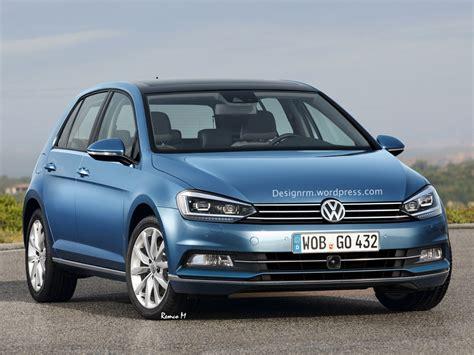 vw golf facelift  debut  geneva   variant carscoopscom