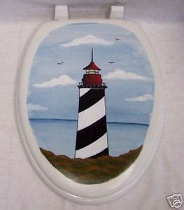 elongated nautical toilet seat painted toilet seat lighthouse nautical elongated new