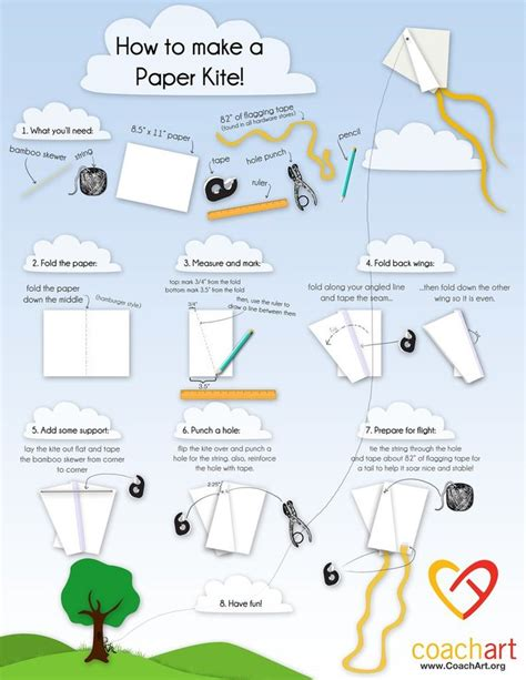 How To Make A Kite With Paper - how to make a paper kite illustrated simple kites