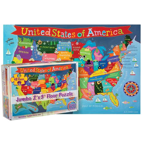 world products kids usa jumbo  piece floor puzzle