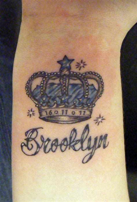 brooklyn tattoos memorial crown on wrist crown