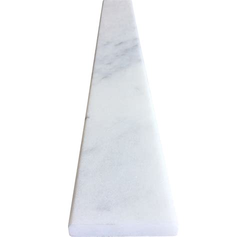 4 x 36 saddle threshold white marble stone