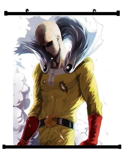 anime one punch man saitama anime one punch man saitama wall scroll 03 hobby zone