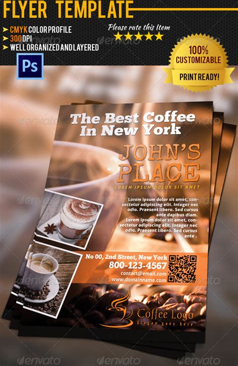 coffe shop flyer by pmvch graphicriver