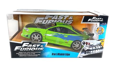 brian s eclipse fast and the furious fast furious brian s mitsubishi eclipse green 1 24 scale
