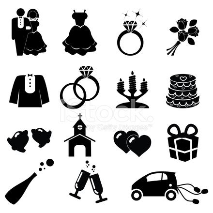 Wedding Font Icon by Wedding Icons Stock Vector Freeimages