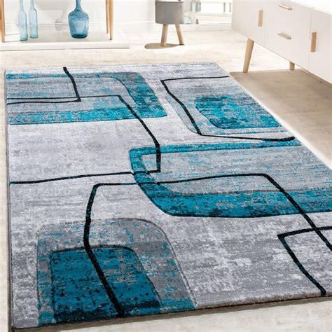 teppich kurzflor petrol designer teppich retro grau t 252 rkis design teppiche