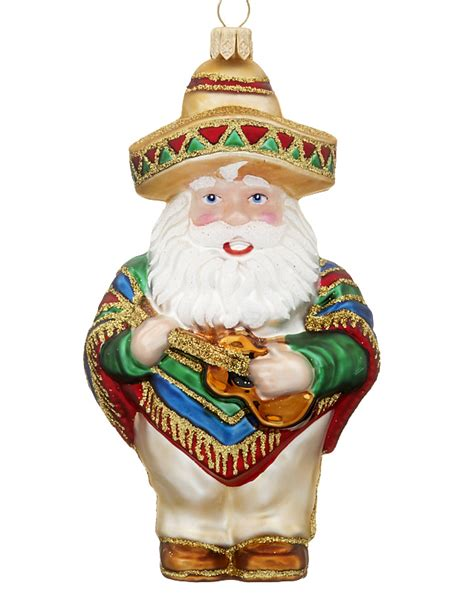 mexican santa personalized ornament