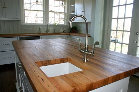 kitchen island with wood top reclaimed white oak wood tops farmhouse kitchen