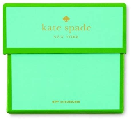 Kate Spade Gift Card - kate spade gift enclosure cards set of 24 contemporary desk accessories