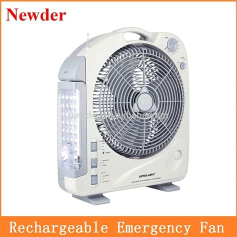 battery powered box fan 12 quot rechargeable battery operated fan with light model