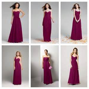 sangria colored dresses sangria color bridesmaid s wedding