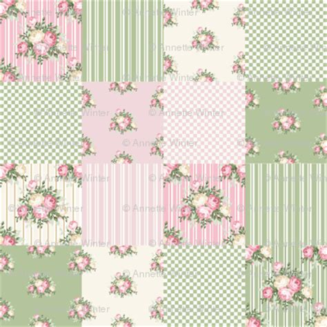 shabby chic quilt fabric pretty shabby chic cheater quilt fabric thatsgraphic spoonflower