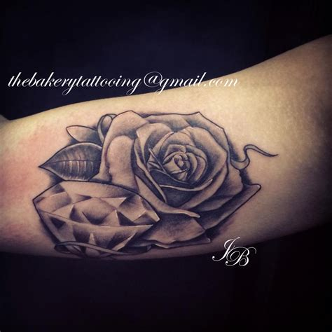 roses and diamonds tattoo diamonds and roses on