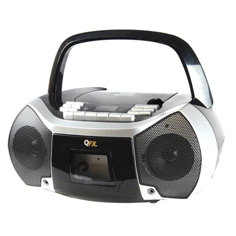 cassette mp3 player quantum fx 97096447m portable boombox with bluetooth am