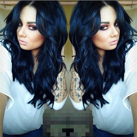 black midnight blue hair stunning midnight blue hairstyles the haircut web