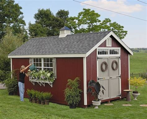 amish backyard structures amish colonial williamsburg garden shed panelized kit