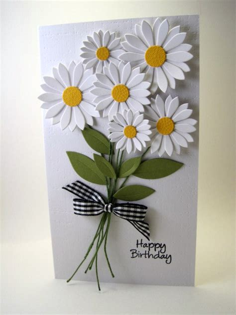 Handmade Cards With Flowers - i m in happy birthday michele