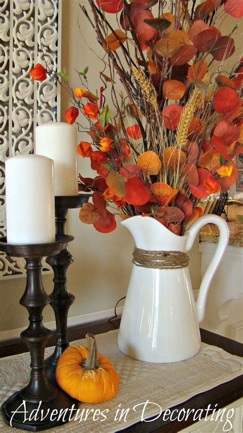 Fall Vase Ideas by Adventures In Decorating Pitcher Filler Thanksgiving