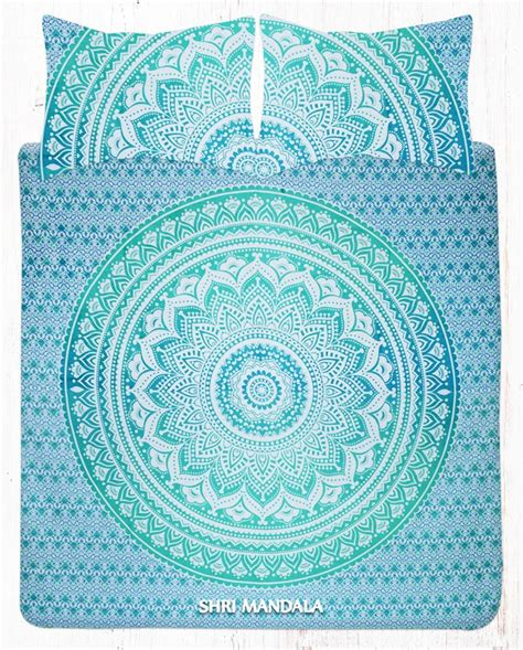 ombre bedding sets king size green ombre hippie bedding set with pillow cases shri mandala