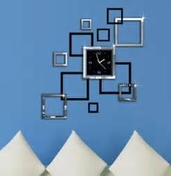 wohnzimmer uhren modern home decoration mirror effect ring wall clock modern