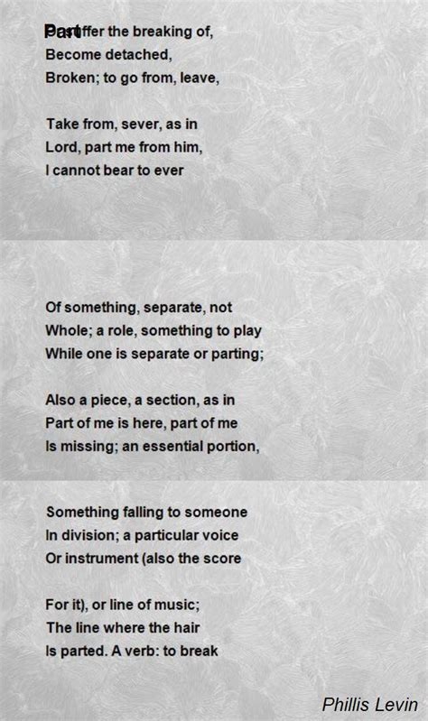 section of a sonnet part poem by phillis levin poem hunter