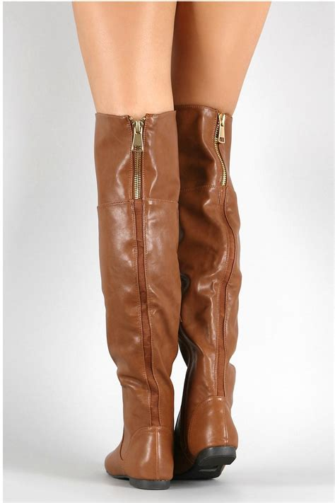 Shoo Bsy Brown bamboo brown leather boots from atlanta by couture