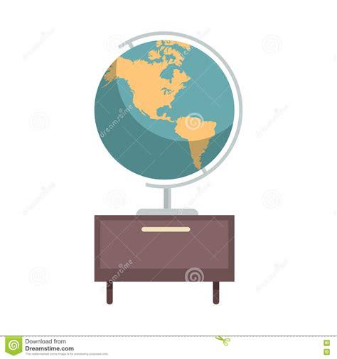 globe enterprise maps application silhouette globe map world earth business icon vector