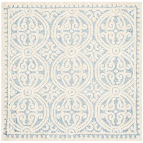 square area rugs 10 x 10 safavieh cambridge light blue ivory 10 ft x 10 ft square area rug cam123a 10sq the home depot