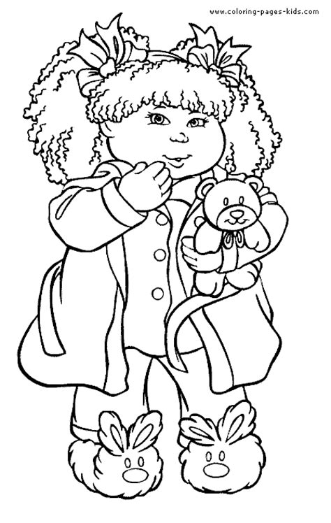 kid coloring cabbage patch coloring pages coloring home