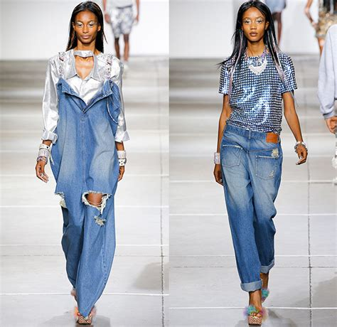 jean lengths for spring 2015 ashish 2015 spring summer womens runway denim jeans