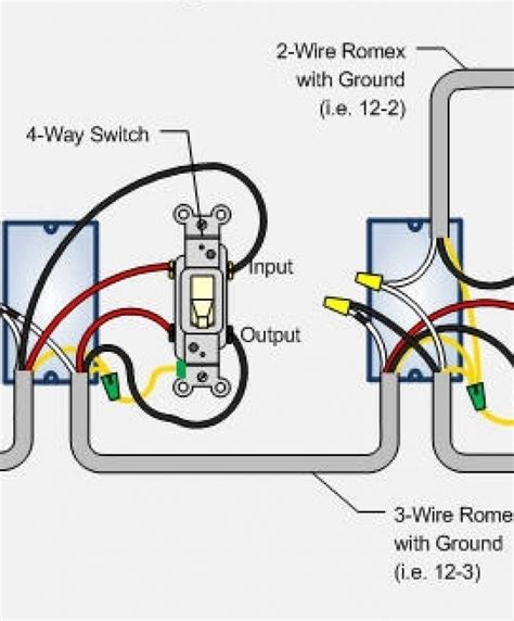 4 way switch wiring diagrams diagram power at
