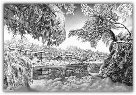 imagenes a lapiz de navidad dibujos hechos lapiz nieve navidad 40
