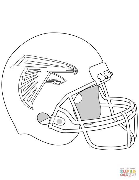super coloring pages nfl atlanta falcons helmet coloring page free printable