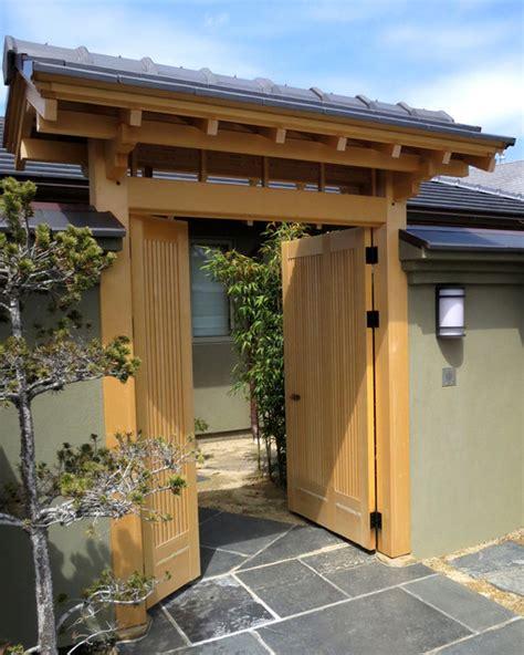 japanese style entrance gate asian san francisco by ki arts