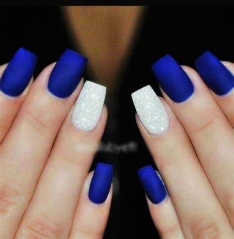 imagenes de uñas negras con azul 20 dise 241 os de u 241 as azules u 241 as decoradas azules 2018