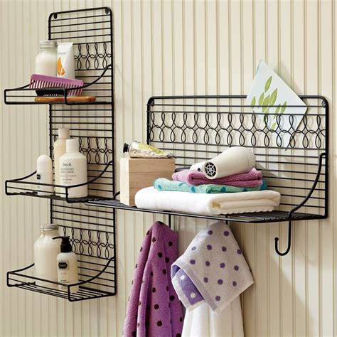 wire bathroom shelf bathroom storage these would be cute painted white for a