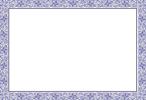 blue template award certificate border pdf