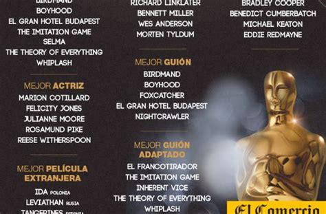 premios tvynovelas 2015 nominados a gra final de telenovela premios 211 scar 2015 sigue en vivo las nominaciones