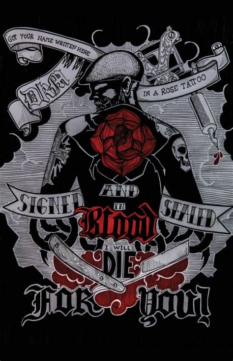 dkm rose tattoo 17 best images about dropkick murphys on