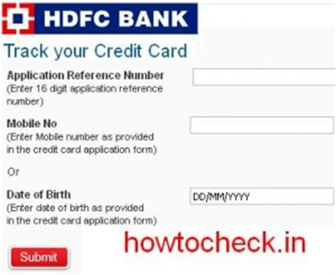 hdfc bank credit card status reference no how to check hdfc bank credit card status at hdfcbank