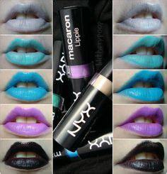 Nyx Ori Macaron Lippies my makeup swatches looks on nyx macaron covergirl and