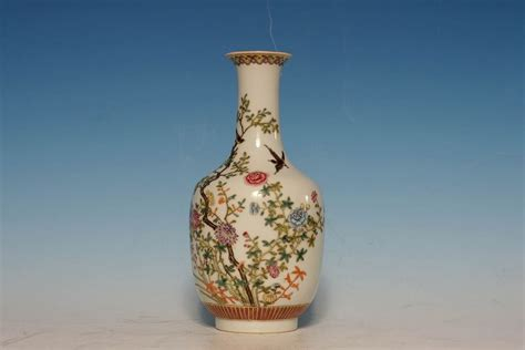 Antique Porcelain Vase Markings by Antique Qing Dynasty Porcelain Polychrome Vase