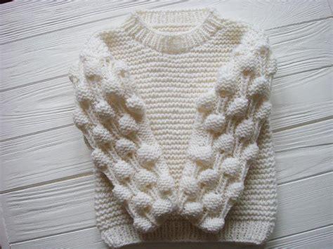 baby chunky knit cardigan oversized bobble sweater bobble stitch knit baby