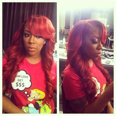 k michelle natural hairstyle k michelle with red hair photo k michelle i gets her