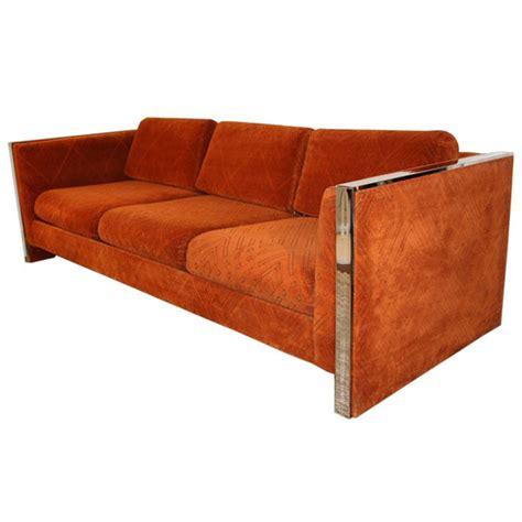 orange sofa chair orange cube sofa by selig monroe chairblog eu