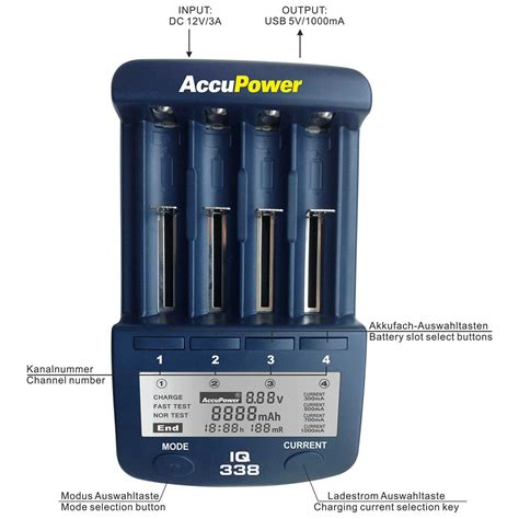 battery charger analyzer accupower iq338 battery charger analyzer tester li ion