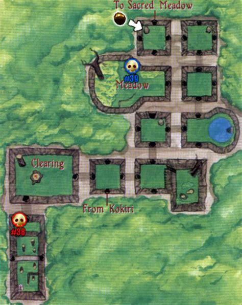 legend of zelda oot map the lost woods where s saria the legend of zelda